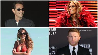 Jennifer López, Marc Anthony, Shannon de Lima y 'Canelo' en Las Vegas: ¿felices los cuatro?