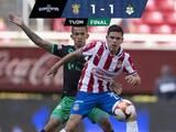 Chivas mejoró al final y logró empate en casa ante Santos