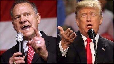 A días de la elección especial del senador por Alabama, Roy Moore tiene el apoyo de Donald Trump