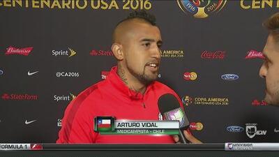 Arturo Vidal: 'El resultado fue algo espectacular y nos da mucha tranquilidad y confianza'