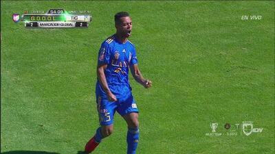¡Tigres pone la igualada con un balón muy fortuito tras riflazo de Carioca!