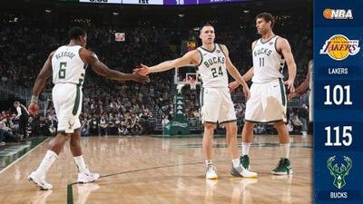 Sin Giannis ni LeBron, los Bucks derrotan a los Lakers