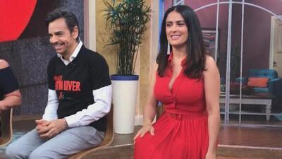 Detrás de cámaras: Cuando Eugenio no come se pone de mal humor y Salma Hayek no quería compartir