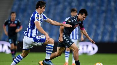 Napoli e Hirving Lozano se jugarán su pase ante Real Sociedad