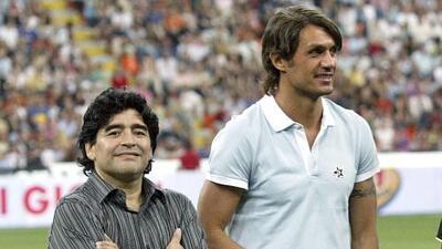 Anécdotas de la Champions League: cuando Maradona fue aficionado del Milan