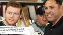"""""""Hazme un favor y vete a la mi**da"""": Canelo y Oscar de la Hoya se pelean en redes sociales"""