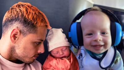 A sus dos meses, el hijo del 'Chicharito' Hernández y Sarah Kohan visita la tierra de papá