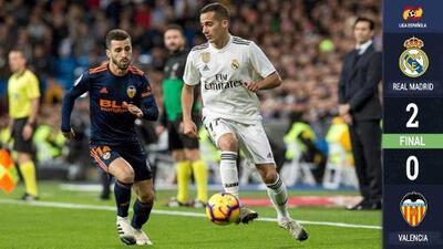 El Real Madrid escala posiciones tras una sufrida victoria ante el Valencia