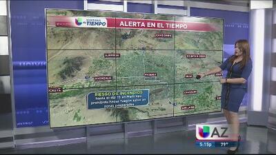 Alerta de incendios forestales en el condado Maricopa
