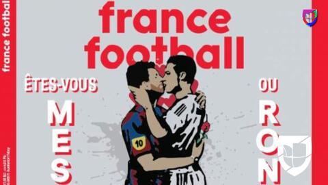 Messi y Cristiano comparten la portada de France Football ¡dándose un beso!