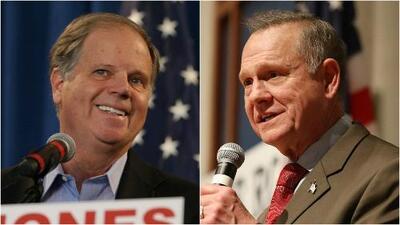 Mientras Doug Jones agradece a minorías por su triunfo, Roy Moore pide recuento de votos en Alabama