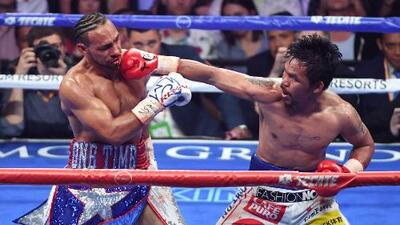 Manny Pacquiao y Keith Thurman le regalan al mundo la pelea del año en Las Vegas