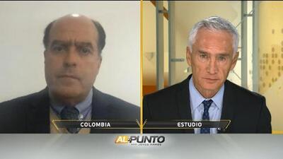 Julio Borges le niega a Jorge Ramos que haya tenido alguna implicación en el presunto atentado contra Maduro