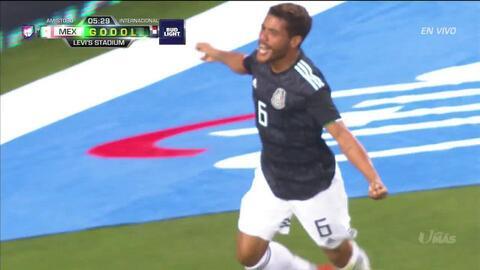 ¡GOOOL! Jonathan dos Santos anota para Mexico
