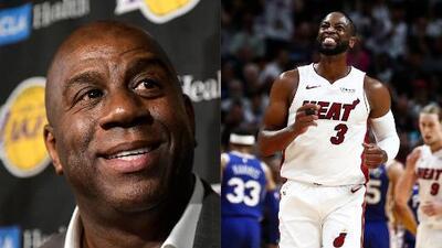 Noche de despedidas en la NBA: Magic Johnson deja presidencia de los Lakers y Dwyane Wade jugó por última vez con los Miami Heat