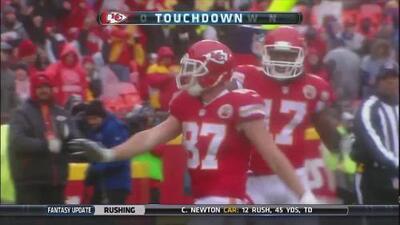 El ridículo baile de Travis Kelce en el touchdown que llevó al triunfo a los Chiefs