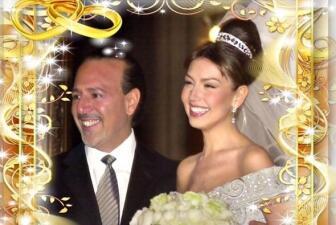 Thalía celebra su aniversario de bodas
