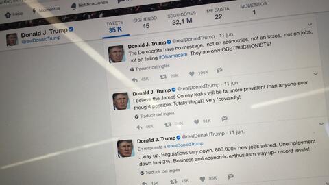 Un congresista impulsa el 'Covfefe Act' para que los mensajes en redes sociales del presidente Trump sean documentos oficiales