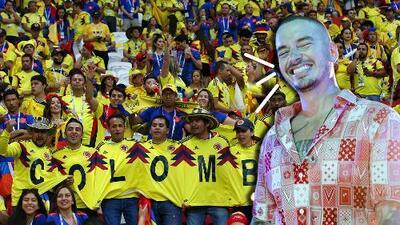 """""""Estamos de celebración"""": J Balvin festeja doble por convertirse en el artista más escuchado y por la victoria de Colombia"""