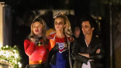 Kate Hudson y su ex Matt Bellamy de Halloween con su hijo