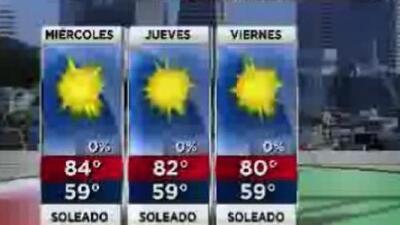 Condiciones agradables para este miércoles en la Bahía