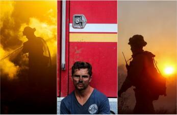 En fotos: estos son los emotivos mensajes de la comunidad hispana a los bomberos de California