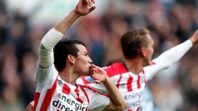Hirving 'Chucky' Lozano volvió tras lesión e hizo gol en el triunfo del PSV sobre Heracles