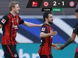 Cae Bayern contra Eintracht antes de enfrentar a la Lazio en la Champions