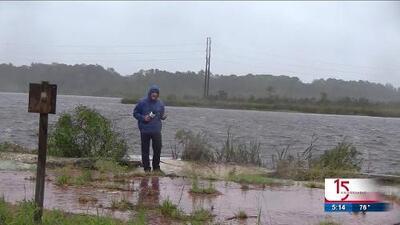 Ya se sienten los efectos de Florence en Jacksonville, Carolina del Norte
