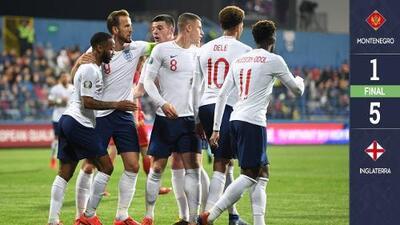 Inglaterra se mantiene invicto y repite goleada, ahora ante Montenegro