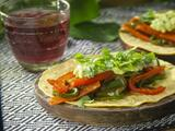 Tacos de fajitas vegetarianas