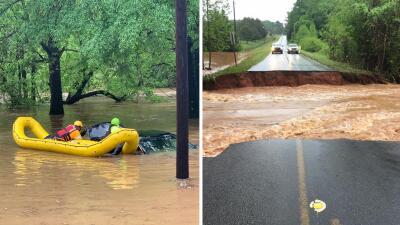 En fotos: tormentas causan daños en varios condados de Georgia