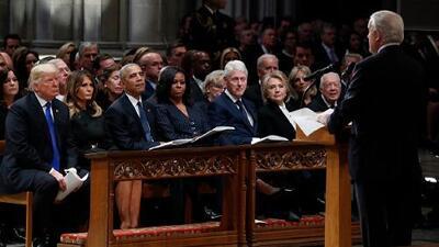 Se respira aire de tensión durante emotiva ceremonia en memoria de George H.W. Bush