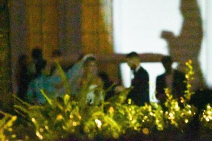 En la boda de 'Los Biebers' se colocó un 'photoboot' con diseños como un iMessage del iPhone.