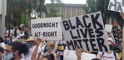 La protesta se desarrolló sin mayores incidentes y no hubo ningún arresto.