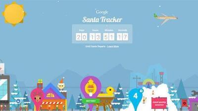 Google sigue la ruta de Santa Claus