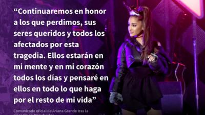 """""""No dejaremos que gane el odio"""" el poderoso mensaje de Ariana Grande después del atentado al Manchester Arena"""