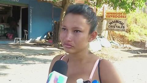 Con 32 semanas de embarazo y a pie, esta salvadoreña en la caravana de migrantes busca el sueño americano