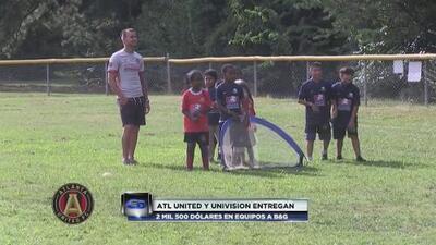 Atlanta United y Univision entregan 2500 dólares para equipos deportivos