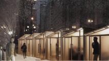 Revelan varias ideas de diseños para que los restaurantes puedan atender en exteriores en pleno invierno