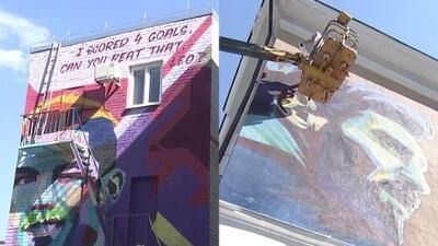 El alcalde de Kazán ordenó pintar dos murales en honor a Lionel Messi y Cristiano Ronaldo