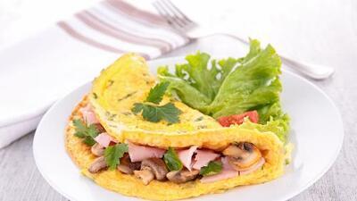 Omelette de champiñones y pavo | Reto 28
