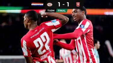 Con Erick Gutiérrez, el PSV empató en casa ante el FC Twente