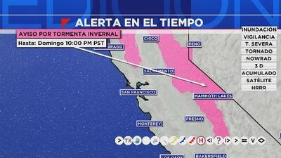 Ventana al Tiempo: Hay alerta por tormenta invernal en la Bahía este viernes