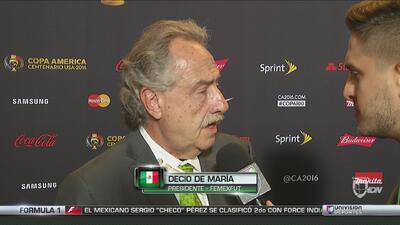 Decio De María: 'No es momento de entrar en especulaciones con Osorio'