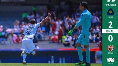 ¡Imparable! Pumas liga su segundo triunfo y golpea a Necaxa