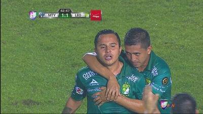 Golazo de Luis Montes para empatar el Monterrey vs. León