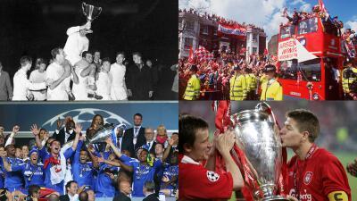 Los más recientes títulos internacionales de los finalistas de Champions y Europa League