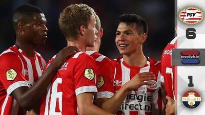 Con Chucky en la cancha, el PSV se da un festín de media docena de goles ante el Willem II