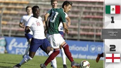 México perdió 2-1 con Inglaterra en la final del torneo Esperanzas de Toulon